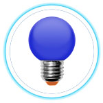 LED Color Bulb_BLUE 01