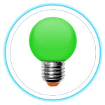 LED Color Bulb_GREEN 01