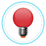 LED Color Bulb_RED 01
