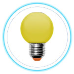 LED Color Bulb_YELLOW 01