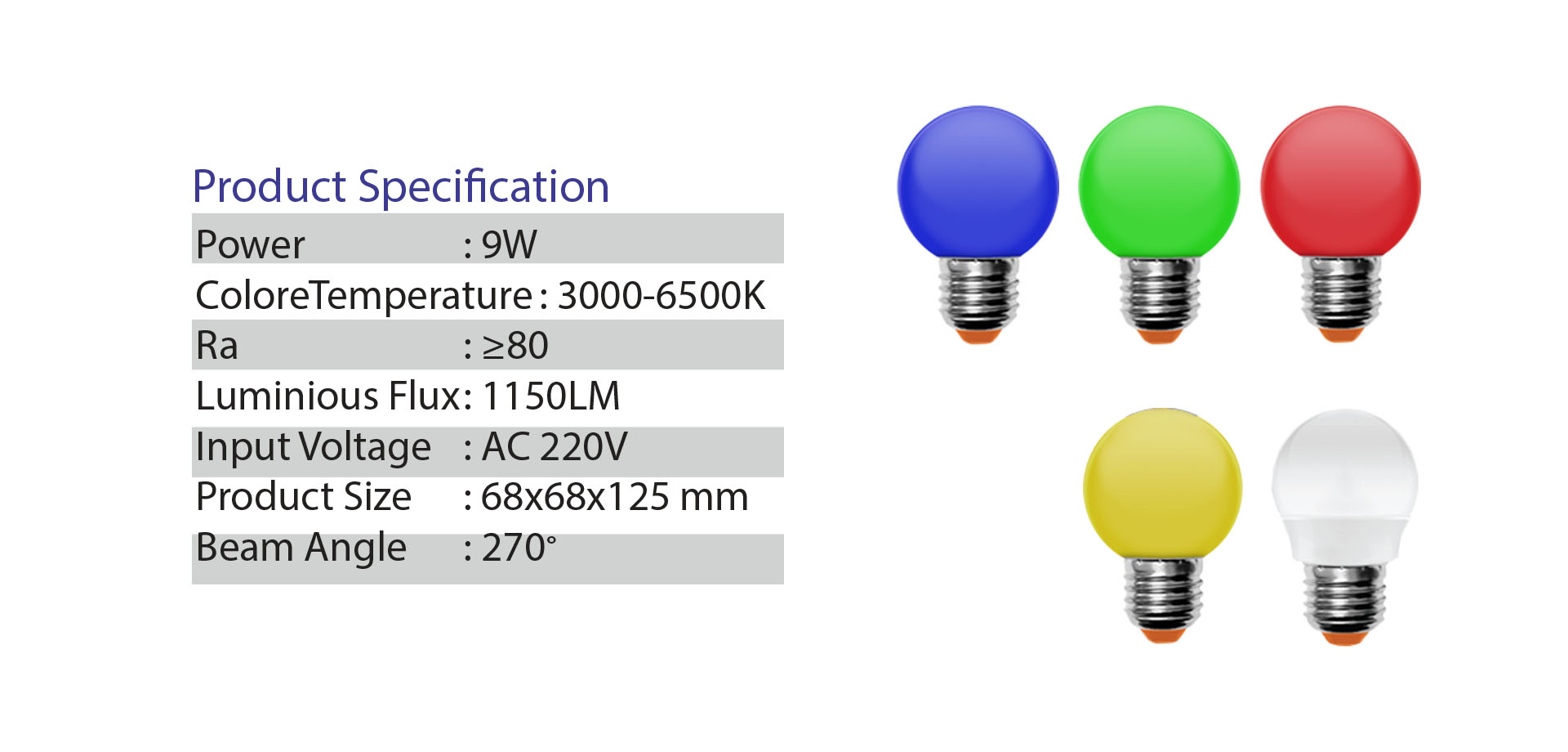 NEO X Bulb LED Product ปิงปองสี